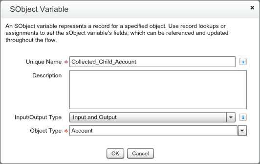 SObject Variable Accounts