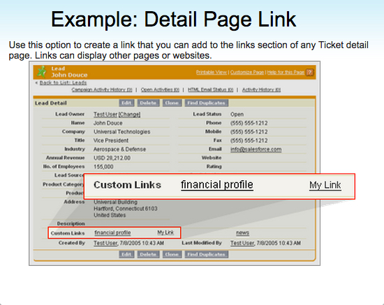Detail Page Link