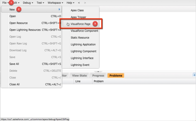 Selecting a Visualforce Page