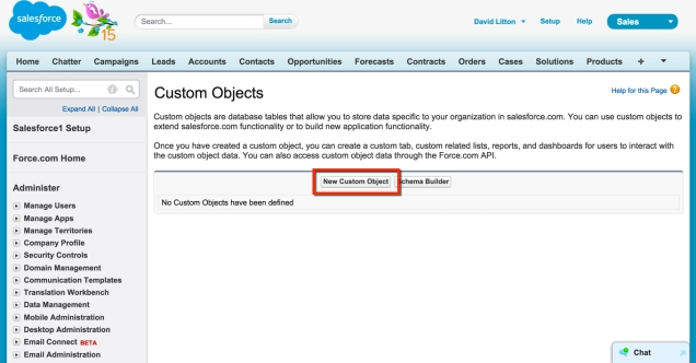 Create new Custom Object
