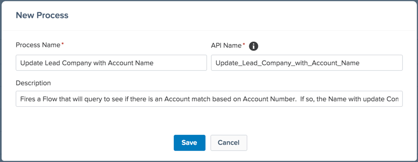Match Leads to an Account Automatically with an Account Number