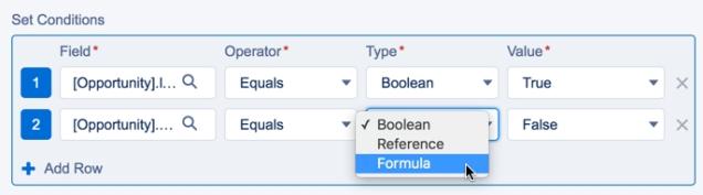 Selecting Formula