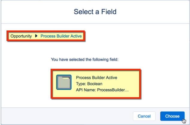 Selecting PB Active Field