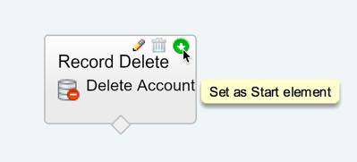 Delete as Start